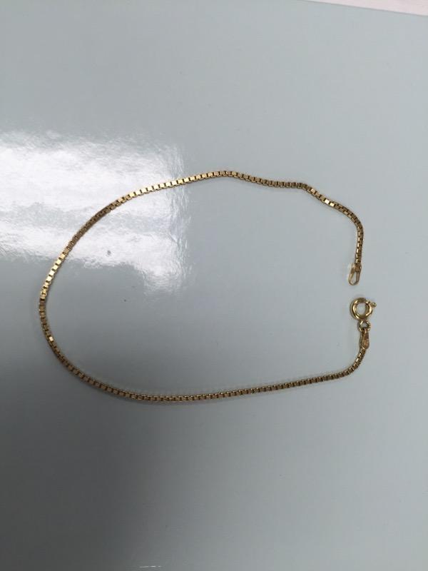 """Silver Gold tone Bracelet Box Chain 2.3g 9"""""""