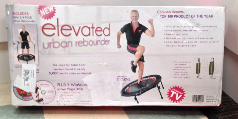 URBAN REBOUNDER, ELEVATED WITH STABILIZING BAR, GOOD CONDITION