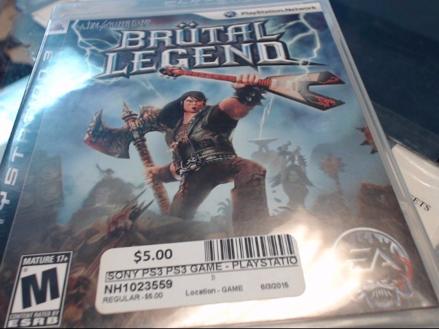 SONY PS3 BRUTAL LEGEND