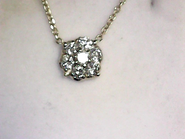 Diamond Necklace 7 Diamonds 1.01 Carat T.W. 14K Yellow Gold 2.3dwt
