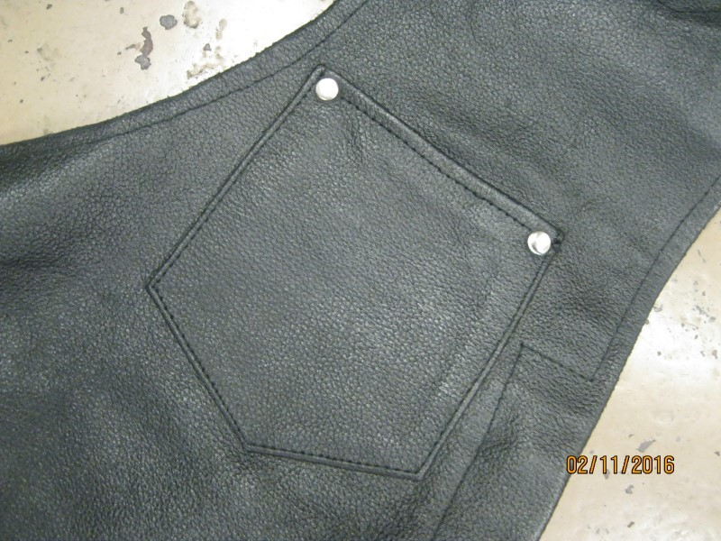 IK Men's Clothing LEATHER CHAPS