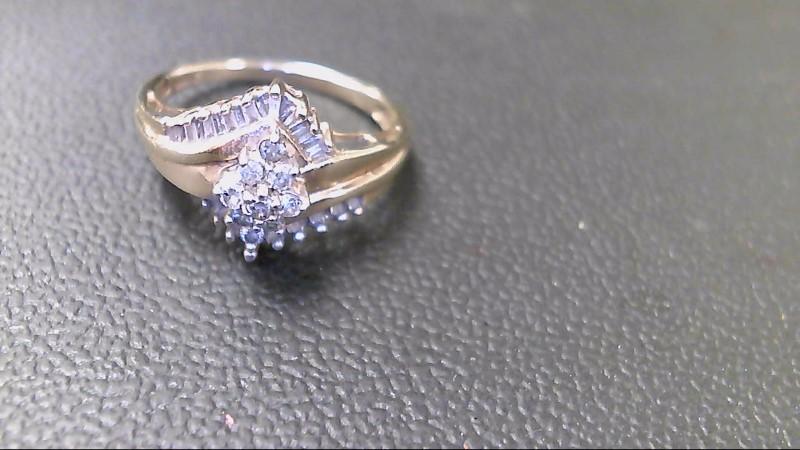 Lady's Diamond Cluster Ring 27 Diamonds 1.35 Carat T.W. 10K Yellow Gold 2.7g