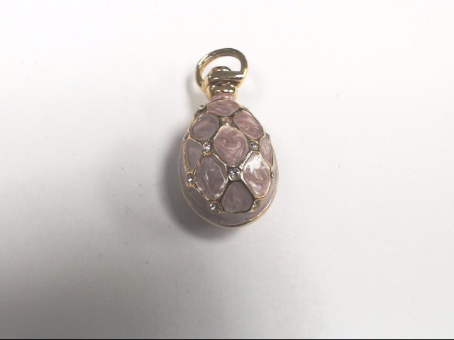 FABERGE INSPIRED PINK ENAMEL AND CZ EGG PERFECT FOR EASTER
