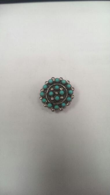 Turquoise Silver Pendant 925 Silver 2.8g