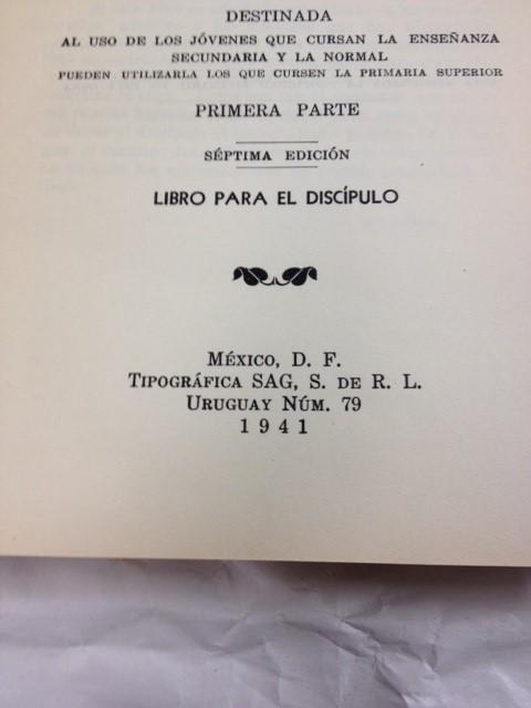 GRAMATICA INDUCTIVA DE LA LENGUA ESPANOLA 1941