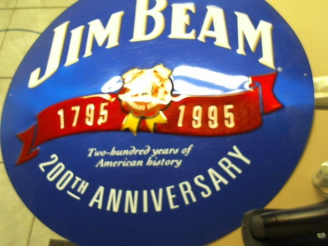JIM BEAM Sign METAL SIGN