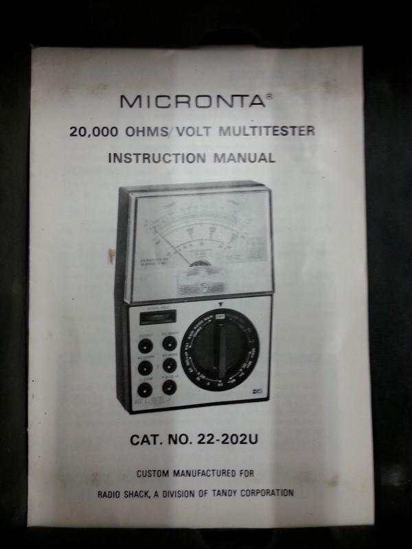 MICRONTA Multimeter 22-204C
