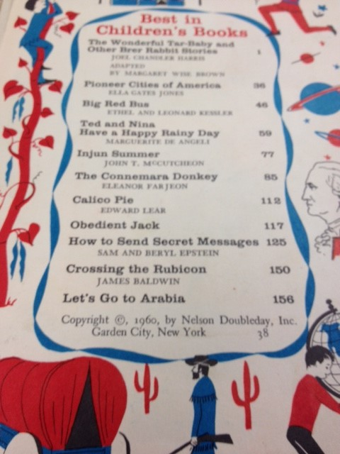 BEST IN CHILDREN'S BOOKS 1960 NELSON DOUBLEDAY
