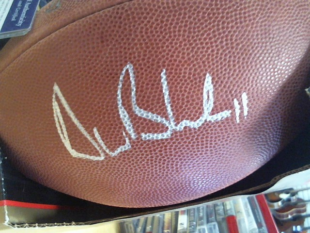 WILSON Football LEATHER FOOTBALL SIGNED BY BLEDSOE