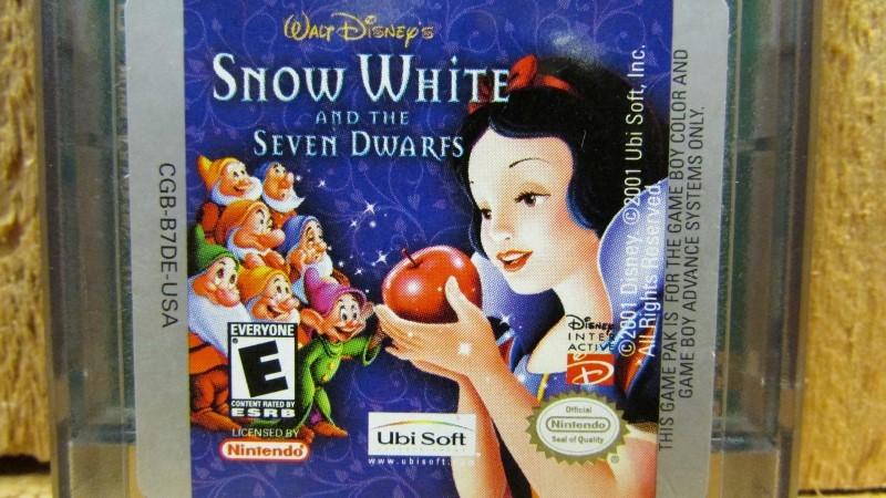 NINTENDO Vintage Game SNOW WHITE & THE SEVEN DWARFS - GAMEBOY
