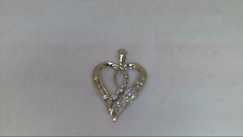 Gold-Multi-Diamond Pendant 24 Diamonds .24 Carat T.W. 10K White Gold 1.26g