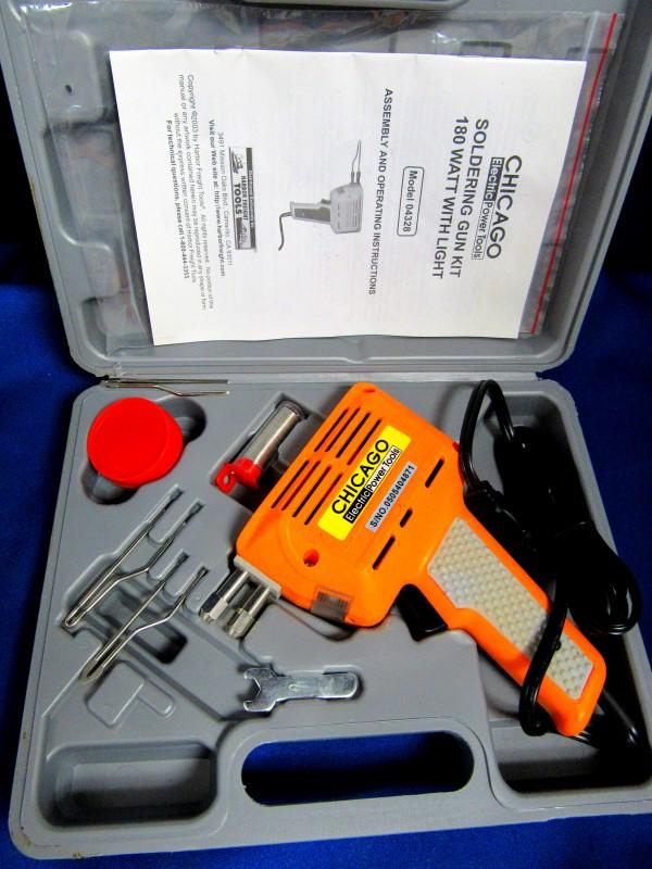 CHICAGO ELECTRIC 180W SOLDERING GUN KIT