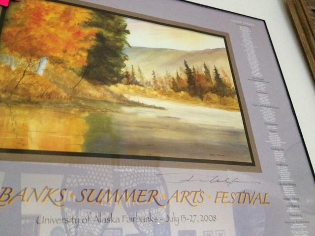 SUMMER ARTS FESTIVAL 2008 'CHENA GOLD' SIGNED BY TOM NIXON