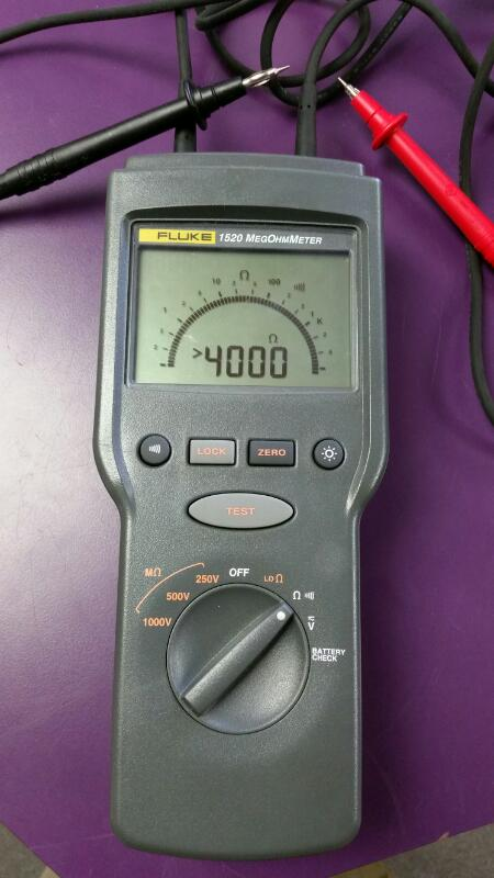 Fluke 1520 MegOhmMeter Insulation Ohm Resistance *COMPLETE*