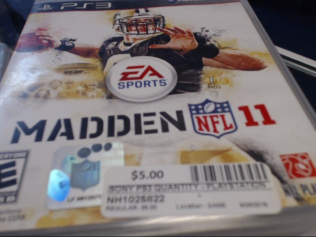 SONY PS3 NFL MADDEN 11