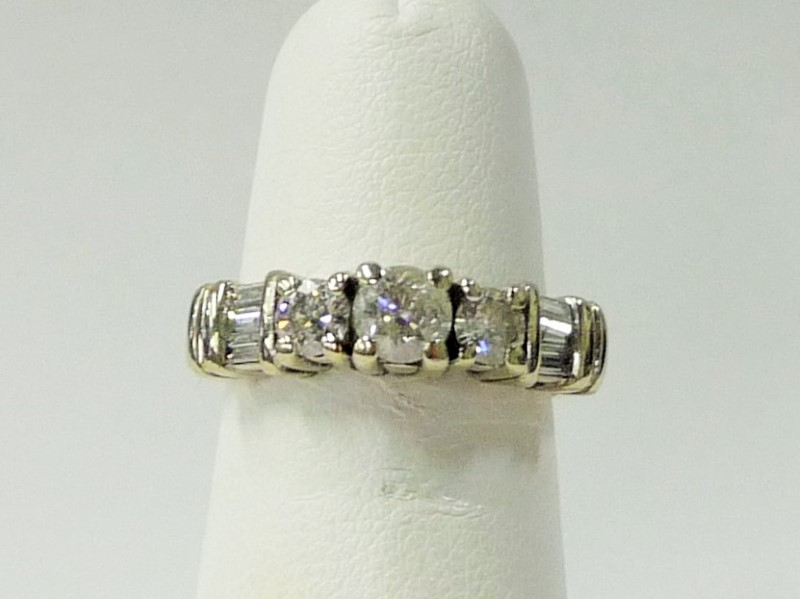 Lady's Diamond Engagement Ring 9 Diamonds .73 Carat T.W. 14K Yellow Gold