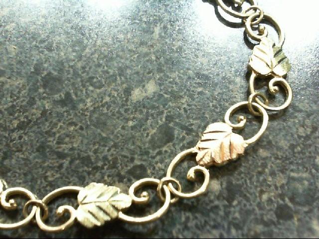 Gold Bracelet 10K Tri-color Gold 6.5g