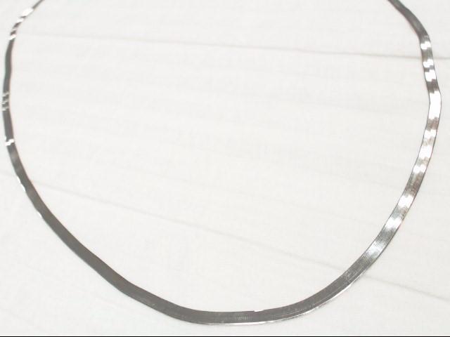 """34"""" SILVER HERRINGBONE CHAIN S925 20.1G"""