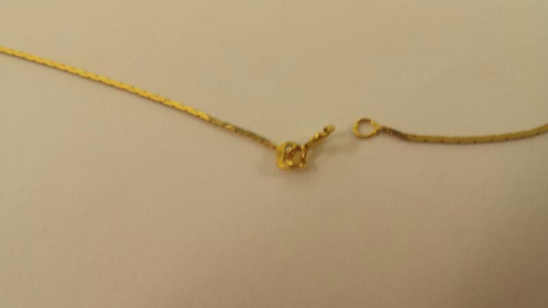"21"" LDS 14KT Gold Herringbone Chain BOX 14K Yellow Gold 2.2dwt"