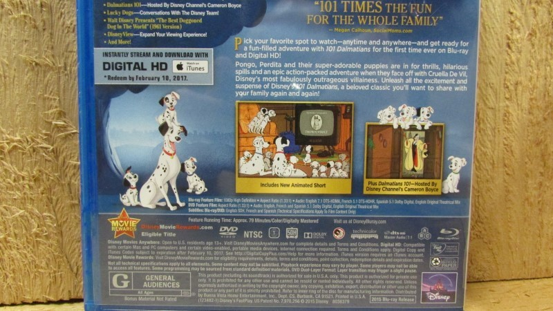 BLU-RAY MOVIE Blu-Ray 101 DALMATIONS