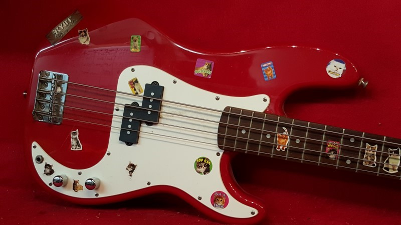 "FENDER Bass Guitar SQUIER PRECISION ""Cat Lover Edition"""