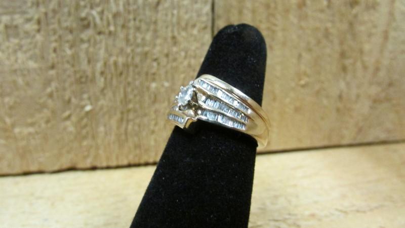 Lady's Diamond Wedding Set 64 Diamonds .71 Carat T.W. 10K Yellow Gold 5.7g