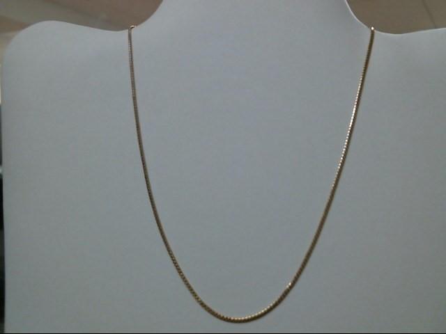 "16"" Gold Serpentine Chain 14K Yellow Gold 3.3g"