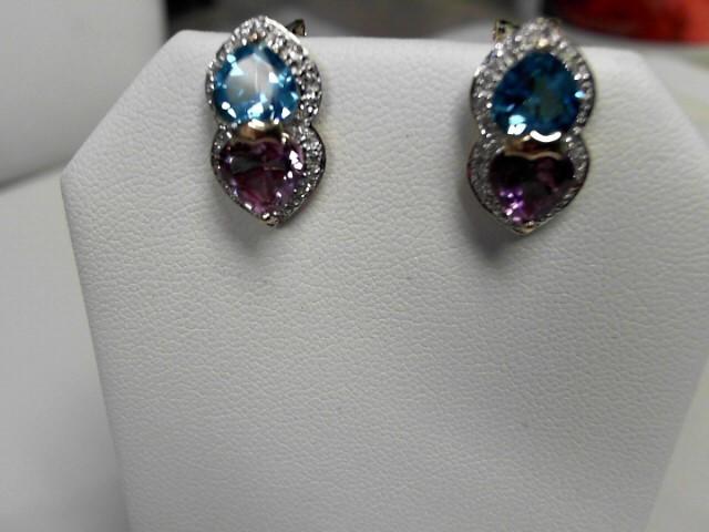 Amethyst Topaz & 22 Diamonds .22 Carat T.W.
