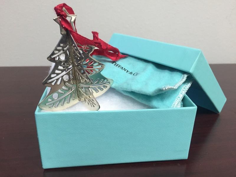 TIFFANY & CO Glass/Pottery CHRISTMAS TREE ORNIMATE