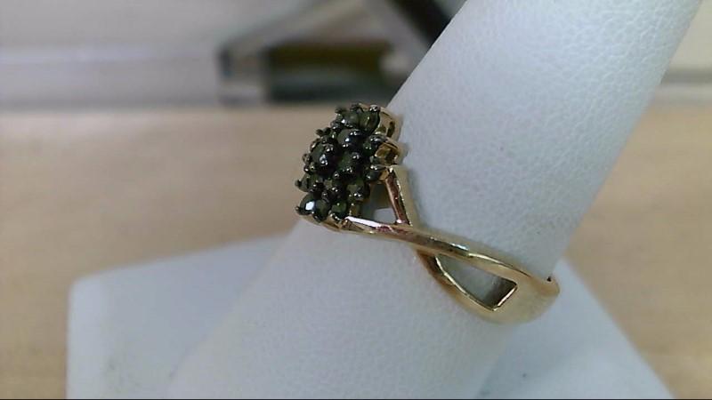 Lady's Diamond Fashion Ring 19 Diamonds .38 Carat T.W. 10K Yellow Gold 2.3g