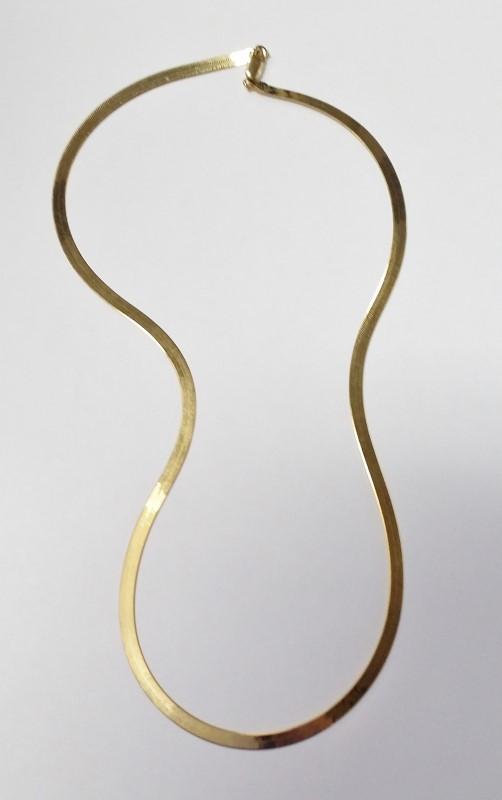 """20"""" Gold Herringbone Chain 14K Yellow Gold 7.43g"""