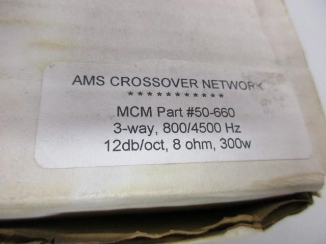 AMS CROSSOVER, 3 WAY, 800/4500 HZ, 12DB/OCT, 8 OHM, 300W
