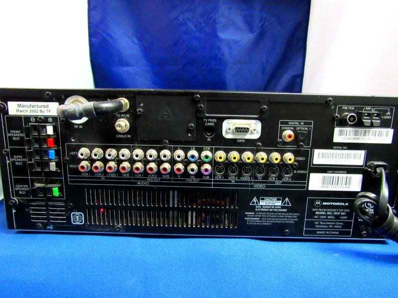 MOTOROLA RECEIVER DCP501