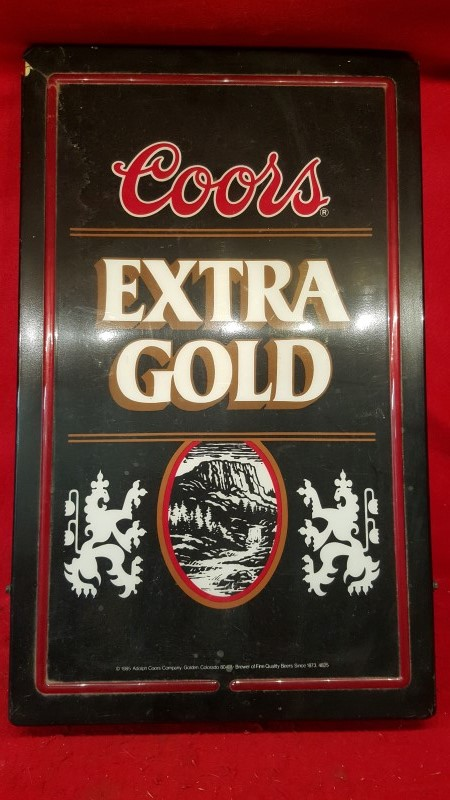 COORS EXTRA GOLD Sign NEON SIGN - WORKS