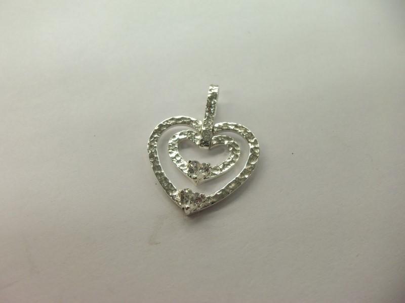 White Stone Silver-Stone Pendant 925 Silver 3.1g