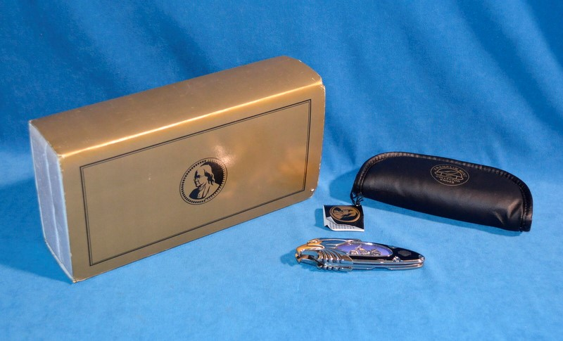 FRANKLIN MINT Pocket Knife HARLEY DAVIDSON HERITAGE SOFTAIL