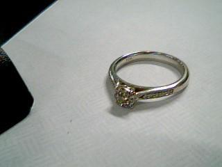 Lady's Diamond Cluster Ring 19 Diamonds .22 Carat T.W. 10K White Gold 3.1g