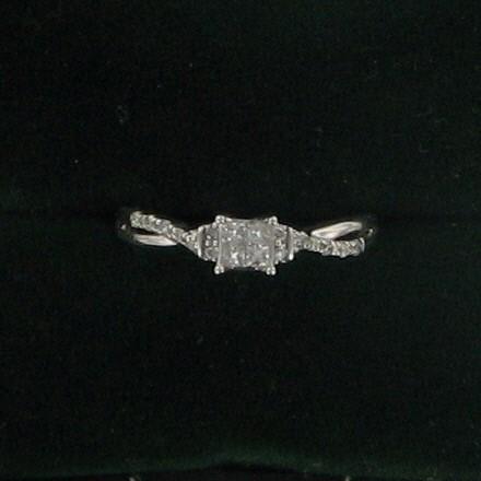 Lady's Diamond Engagement Ring 18 Diamonds .68 Carat T.W. 10K White Gold 1.4dwt