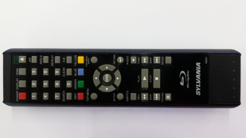 SYLVANIA NB804 BLU-RAY DISC PLAYER REMOTE