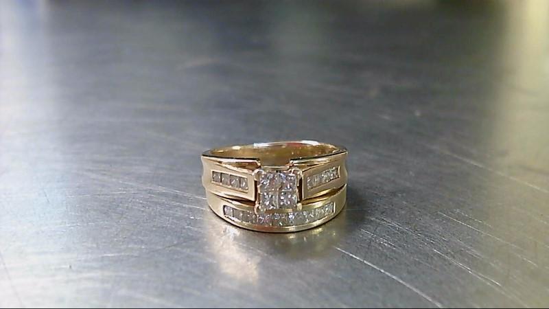 Lady's Diamond Wedding Set 21 Diamonds 1.42 Carat T.W. 14K Yellow Gold 10.33g