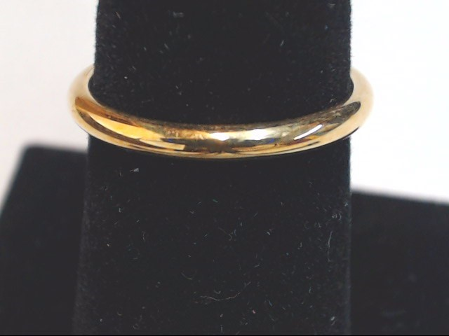 Lady's Gold Wedding Band 14K Yellow Gold 1.9g Size:6.5