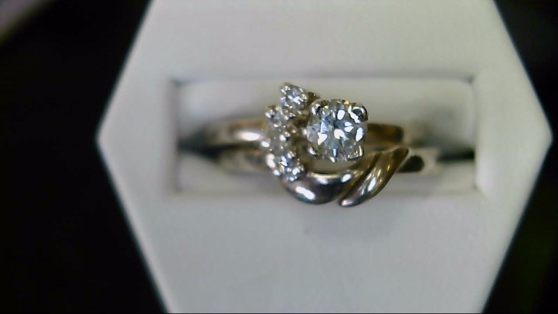 NEW SS .26CT ROUND DIAMOND WITH 4-2MM RD DIA IN WRAP SZ 6 WED SET