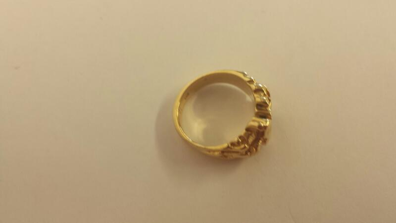 Gent's Gold Ring 14K Yellow Gold 6.3dwt Size:7