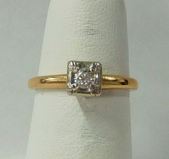 Lady's Diamond Engagement Ring .20 CT. 14K Yellow Gold 1.32dwt
