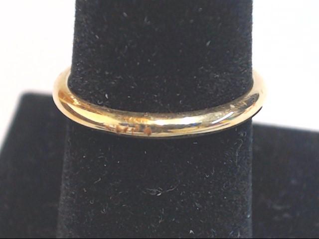 Lady's Gold Wedding Band 14K Yellow Gold 2.3g Size:7.5