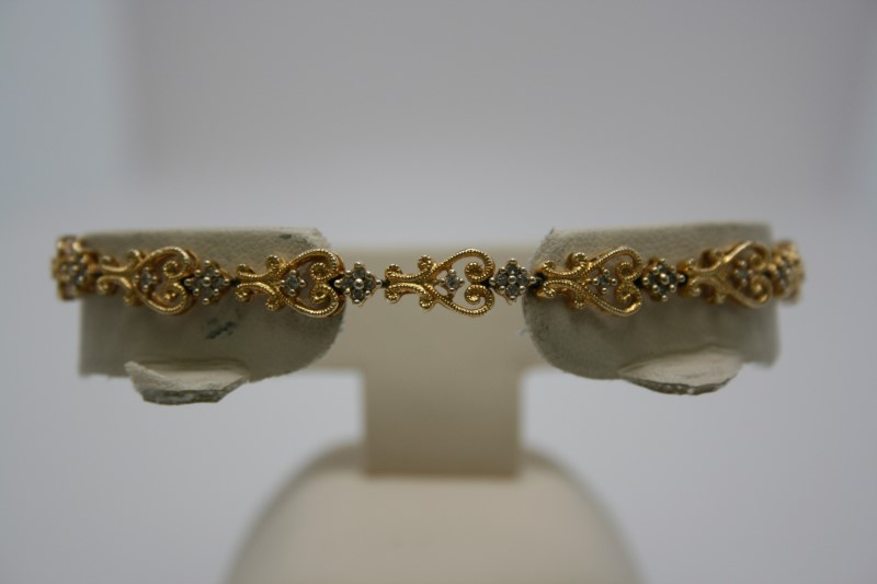 FASHION DESIGN DIAMOND BRACELET 14K YELLOW 0.65CTW APPROX