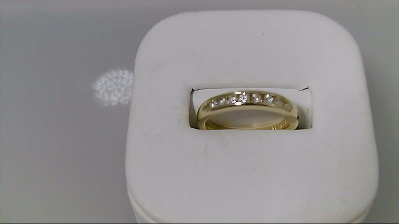 Lady's Gold-Diamond Anniversary Ring 7 Diamonds  1/4cttw 14K Yellow Gold