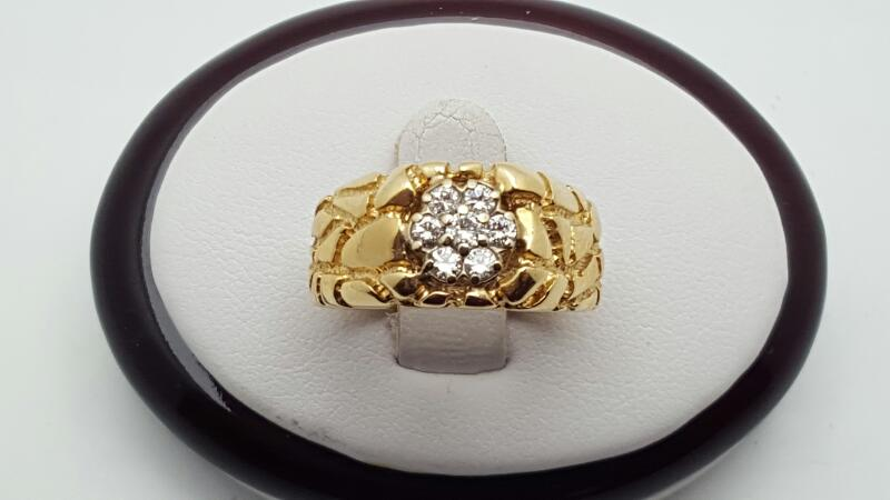 Gent's Gold-Diamond Wedding Band 7 Diamonds .50 Carat T.W. 14K Yellow Gold 7.1g