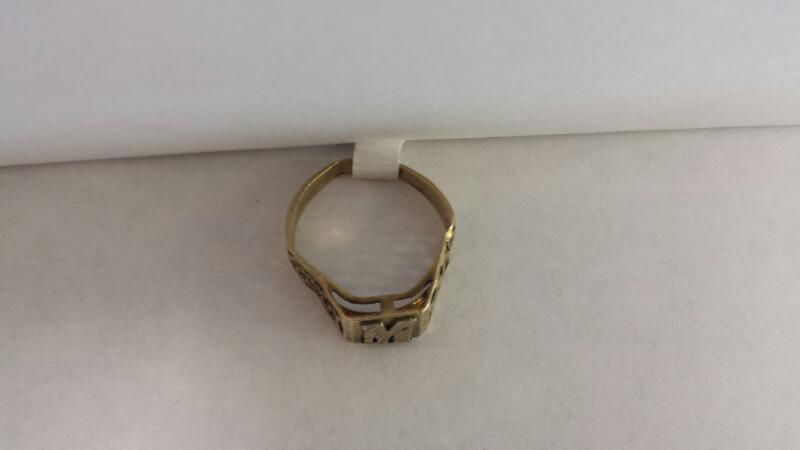 "10k Yellow Gold Ring with ""M"""