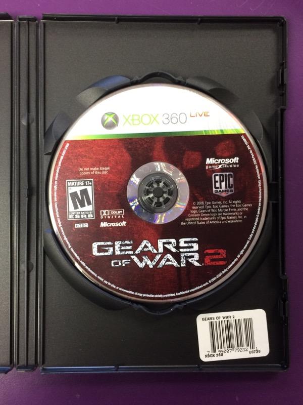 Gears of War 2 - (Microsoft Xbox 360, 2008) - NO MANUAL
